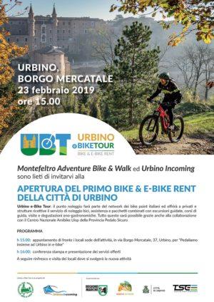 locandina Bike Urbino Borgo Mercatale 23 Febbraio 2019